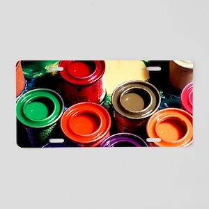 Paint pots Aluminum License Plate