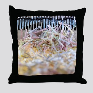 Paper shredder Throw Pillow