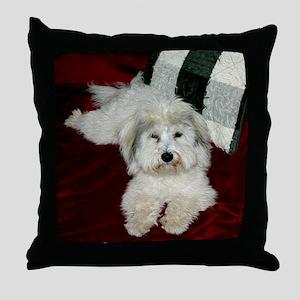 Coton in oil Throw Pillow