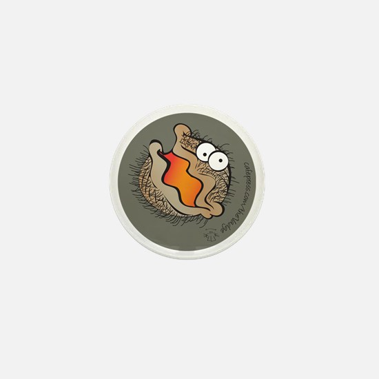 Bearded Clam (orange) Mini Button