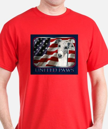 Greyhound US Flag Patriotic Dark Colored T-Shirt