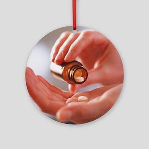 Pain killer pills Round Ornament