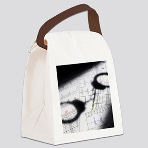 PCR results Canvas Lunch Bag