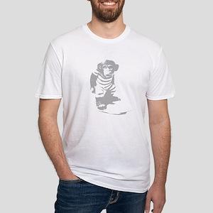 Surf Monkey Grey Outline T-Shirt