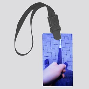 Partially sighted person Large Luggage Tag