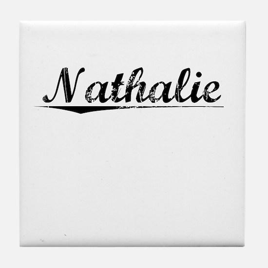 Nathalie, Vintage Tile Coaster