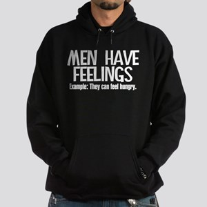 Men Have Feelings Hoodie (dark)