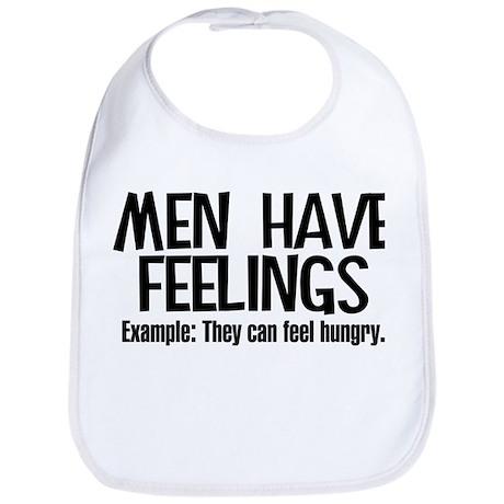 Men Have Feelings Bib