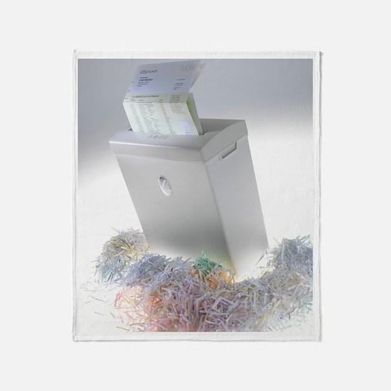 Paper shredder Throw Blanket