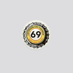 69 Super Good Licking Bottle Cap Mini Button