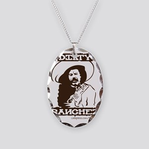 Dirty Sanchez II Necklace Oval Charm