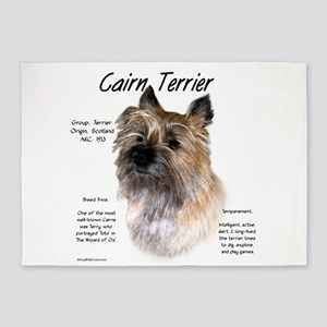 Cairn Terrier 5'x7'Area Rug
