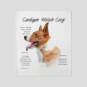 Cardigan Welsh Corgi Throw Blanket