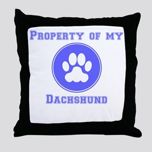 Property Of My Dachshund Throw Pillow