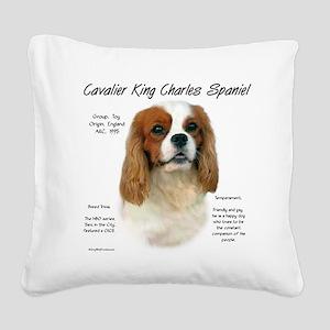 Cavalier (Blenheim) Square Canvas Pillow