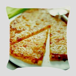 Pizza Woven Throw Pillow