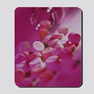 Pills containing the drug ecstasy Mousepad