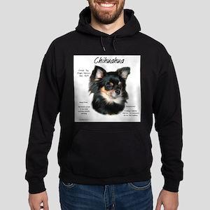 Chihuahua (longhair) Hoodie (dark)