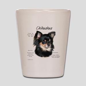 Chihuahua (longhair) Shot Glass
