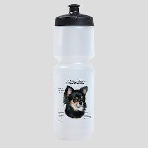 Chihuahua (longhair) Sports Bottle