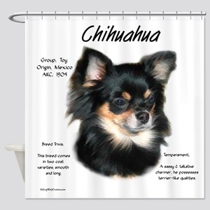 Chihuahua (longhair) Shower Curtain