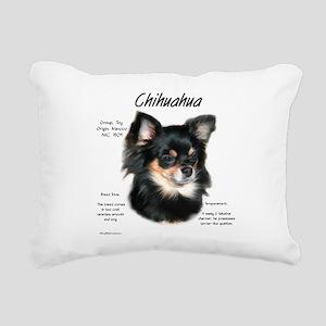 Chihuahua (longhair) Rectangular Canvas Pillow