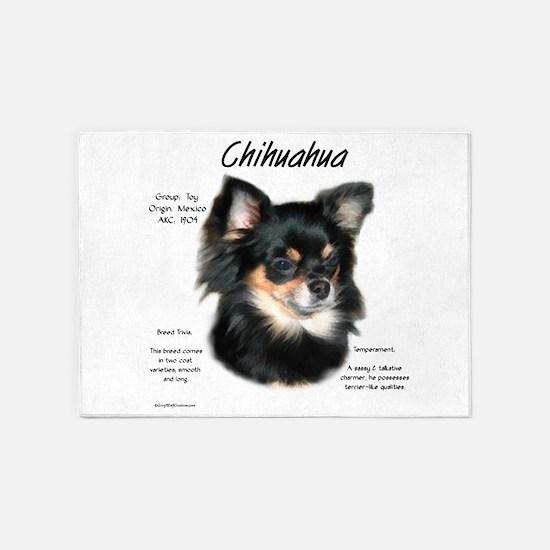 Chihuahua (longhair) 5'x7'Area Rug