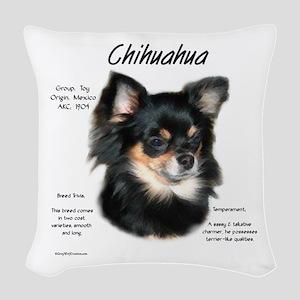 Chihuahua (longhair) Woven Throw Pillow
