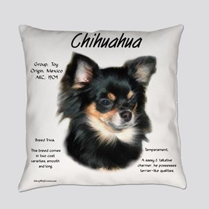 Chihuahua (longhair) Everyday Pillow