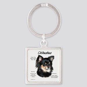 Chihuahua (longhair) Square Keychain