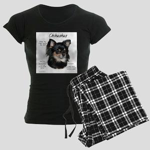 Chihuahua (longhair) Women's Dark Pajamas