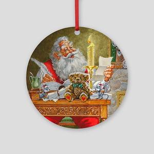 Dear Santa Round Ornament