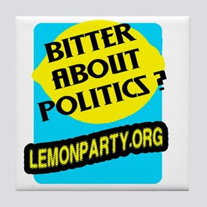 Lemon Party Tile Coaster