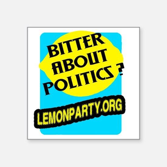 """Lemon Party Square Sticker 3"""" x 3"""""""