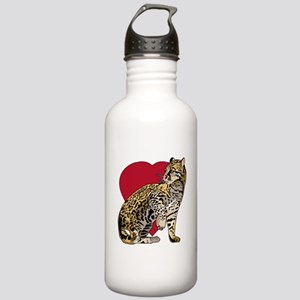 Cheetah Stickers Cloth Stainless Water Bottle 1.0L