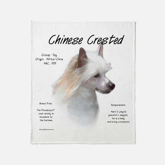 Powderpuff Crested Throw Blanket