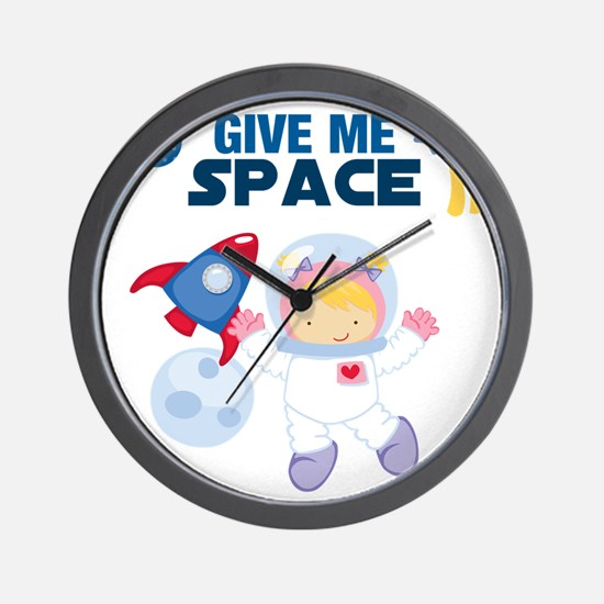 Give Me Space Girl Wall Clock