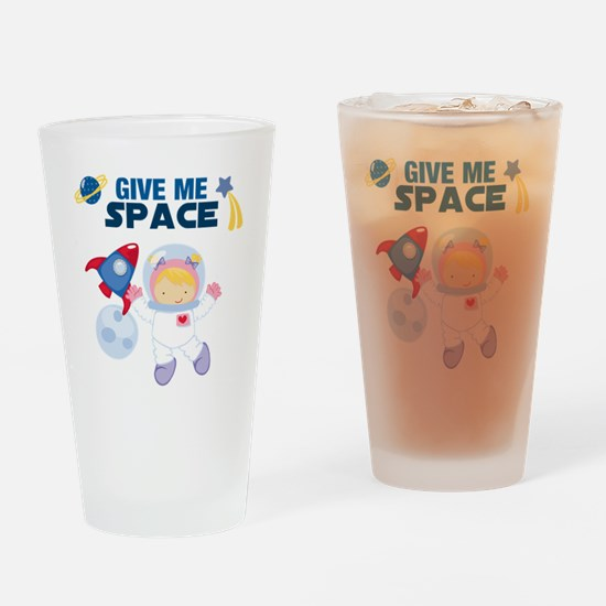 Give Me Space Girl Drinking Glass