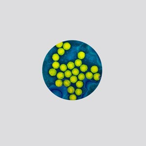 Polio viruses, TEM Mini Button