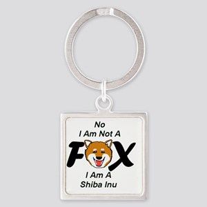 No I Am Not A Fox Square Keychain