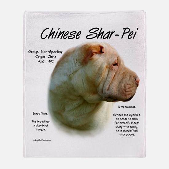 Chinese Shar-Pei Throw Blanket