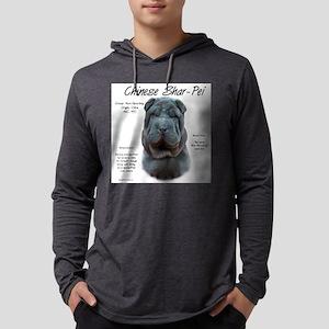 Shar-Pei (blue) Mens Hooded Shirt