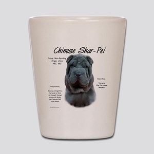 Shar-Pei (blue) Shot Glass