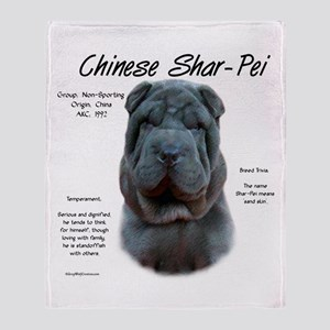 Shar-Pei (blue) Throw Blanket