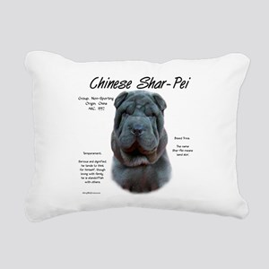 Shar-Pei (blue) Rectangular Canvas Pillow