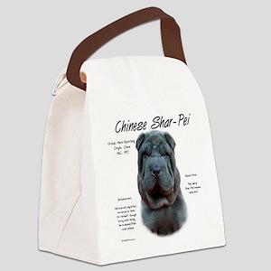 Shar-Pei (blue) Canvas Lunch Bag