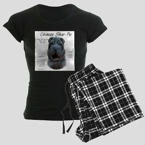 Shar-Pei (blue) Women's Dark Pajamas