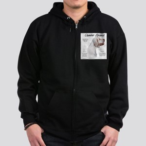 Clumber Spaniel Zip Hoodie (dark)