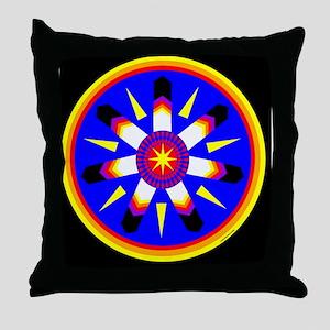 EAGLE FEATHER MEDALLION Throw Pillow