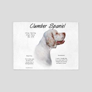Clumber Spaniel 5'x7'Area Rug